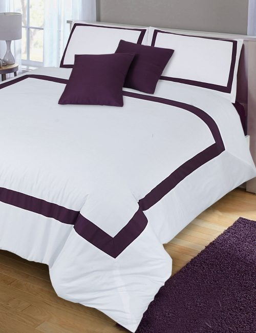 Plain Weave Duvet Cover Set - 8 Pieces : White