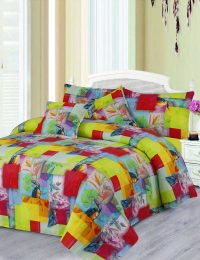 Kingfisher Digital Printed 3D Bed Sheet Set
