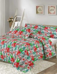 Floral Digital Printed 3D Bed Sheet Set