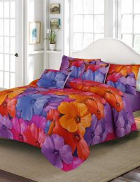 Petunia Flower Digital Printed 3D Bed Sheet Set