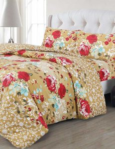 F10 Floral Duvet Cover Set - 3 Pieces
