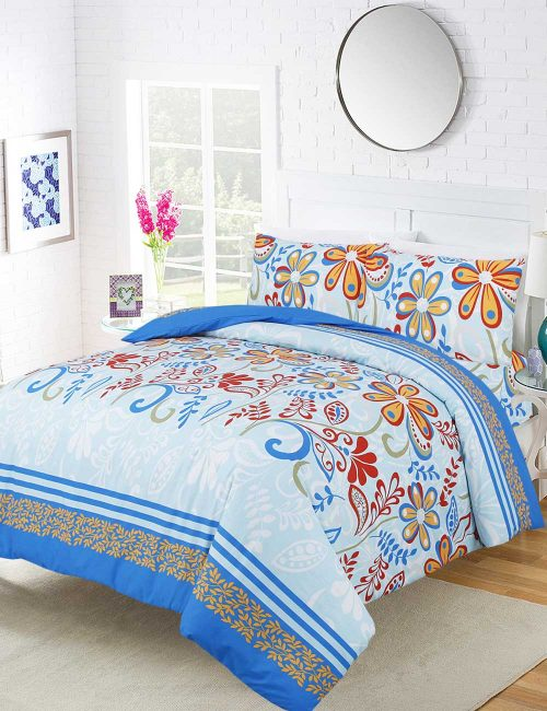 F11 Floral Duvet Cover Set - 3 Pieces