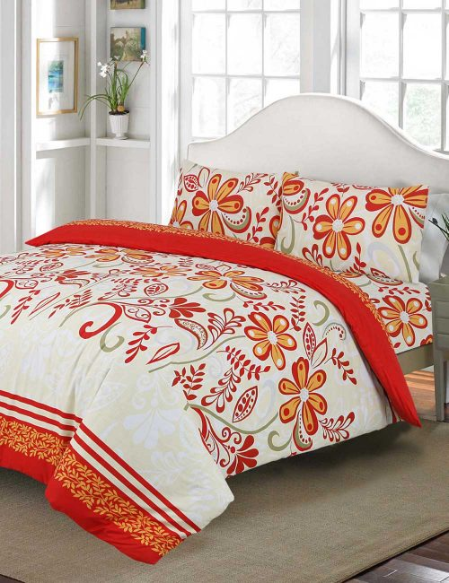 F6 Floral Duvet Cover Set - 3 Pieces