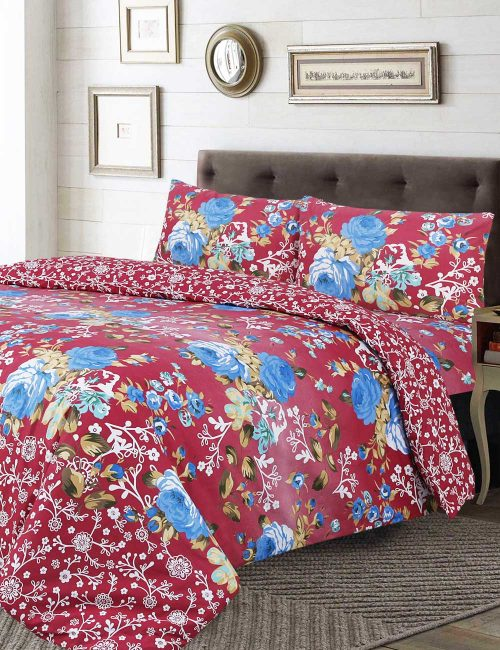 F9 Floral Duvet Cover Set - 3 Pieces