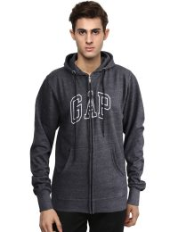 GAP Fleece Hoodies For Men Charcoal Color